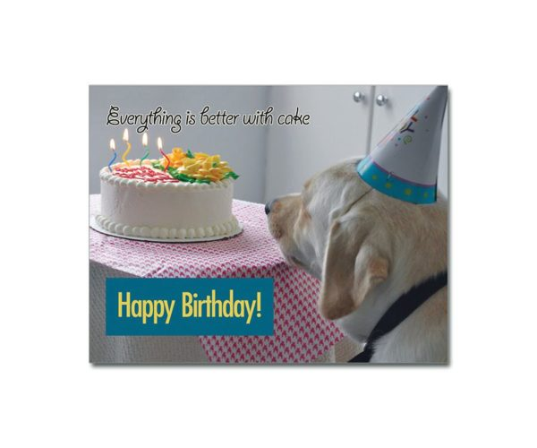 BetterWithCake Birthday Card