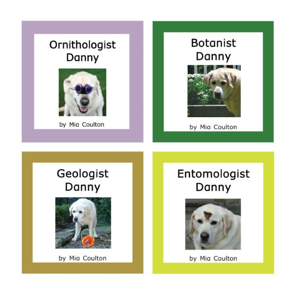 Covers of 4 books in Science Danny Set