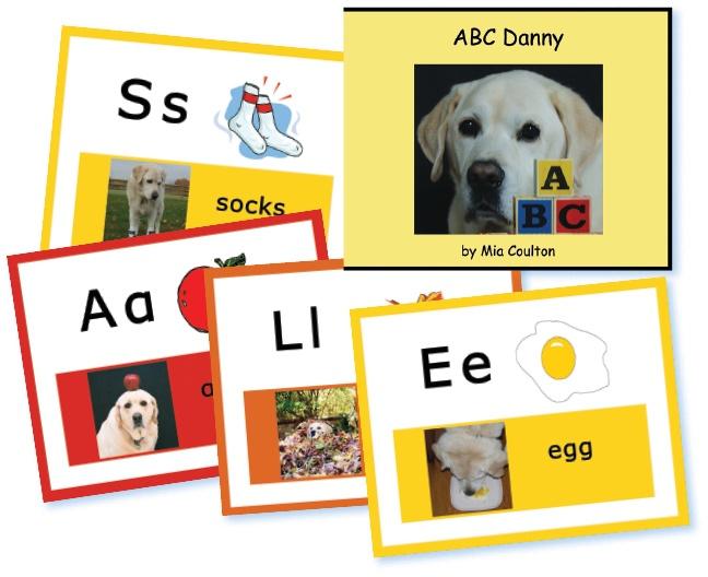 A B C Danny book and classroom card set