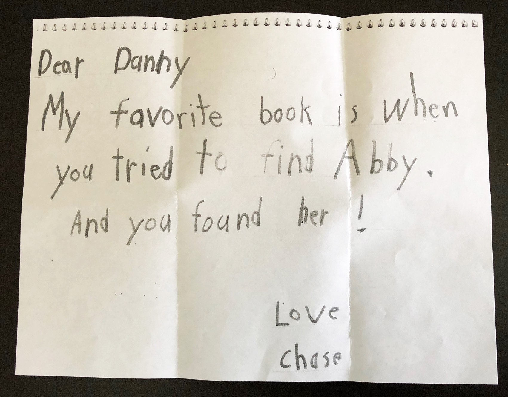 Review of Danny Looks for Abby