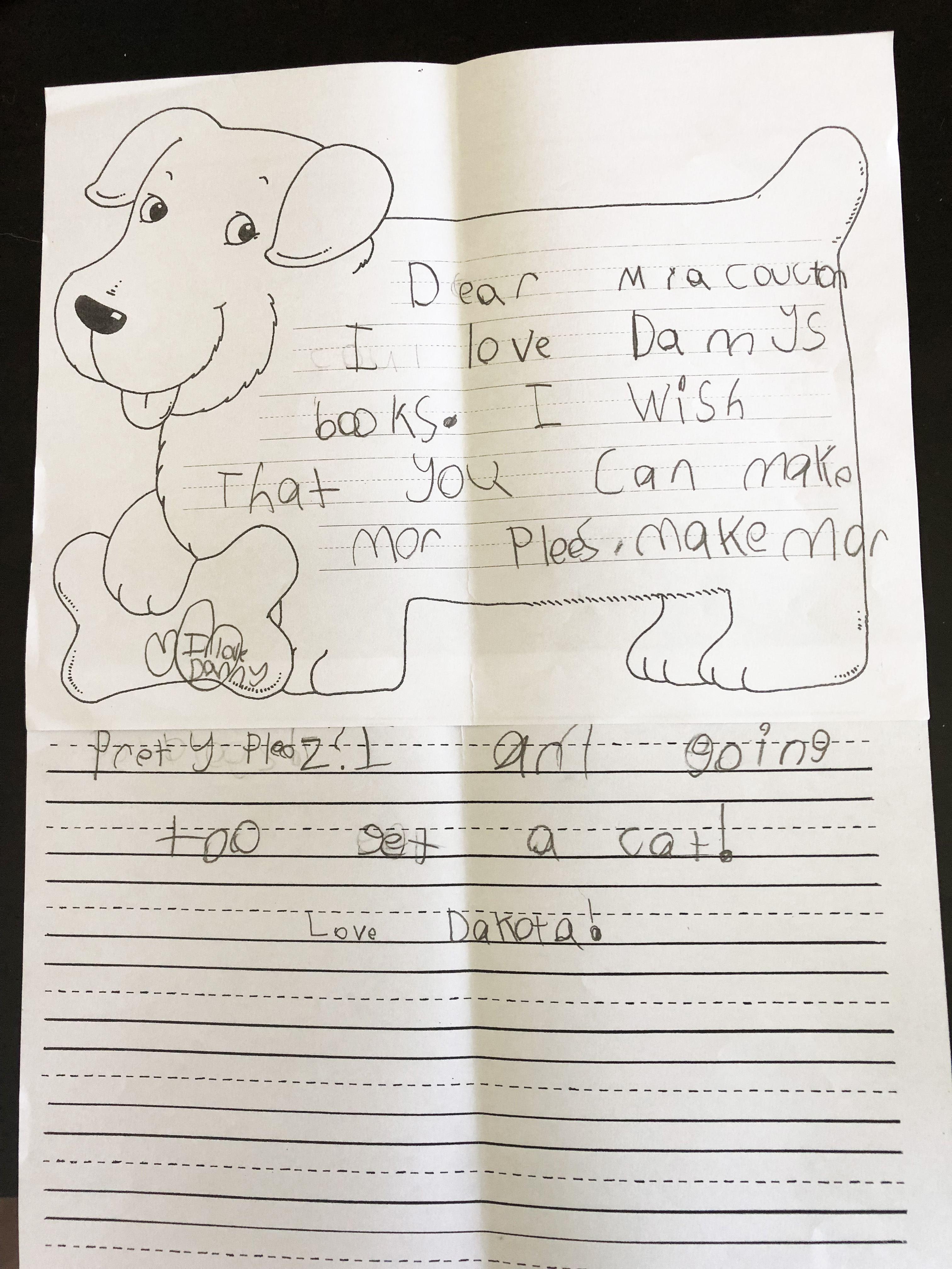 1st grader, Dakota, loves MaryRuth Books