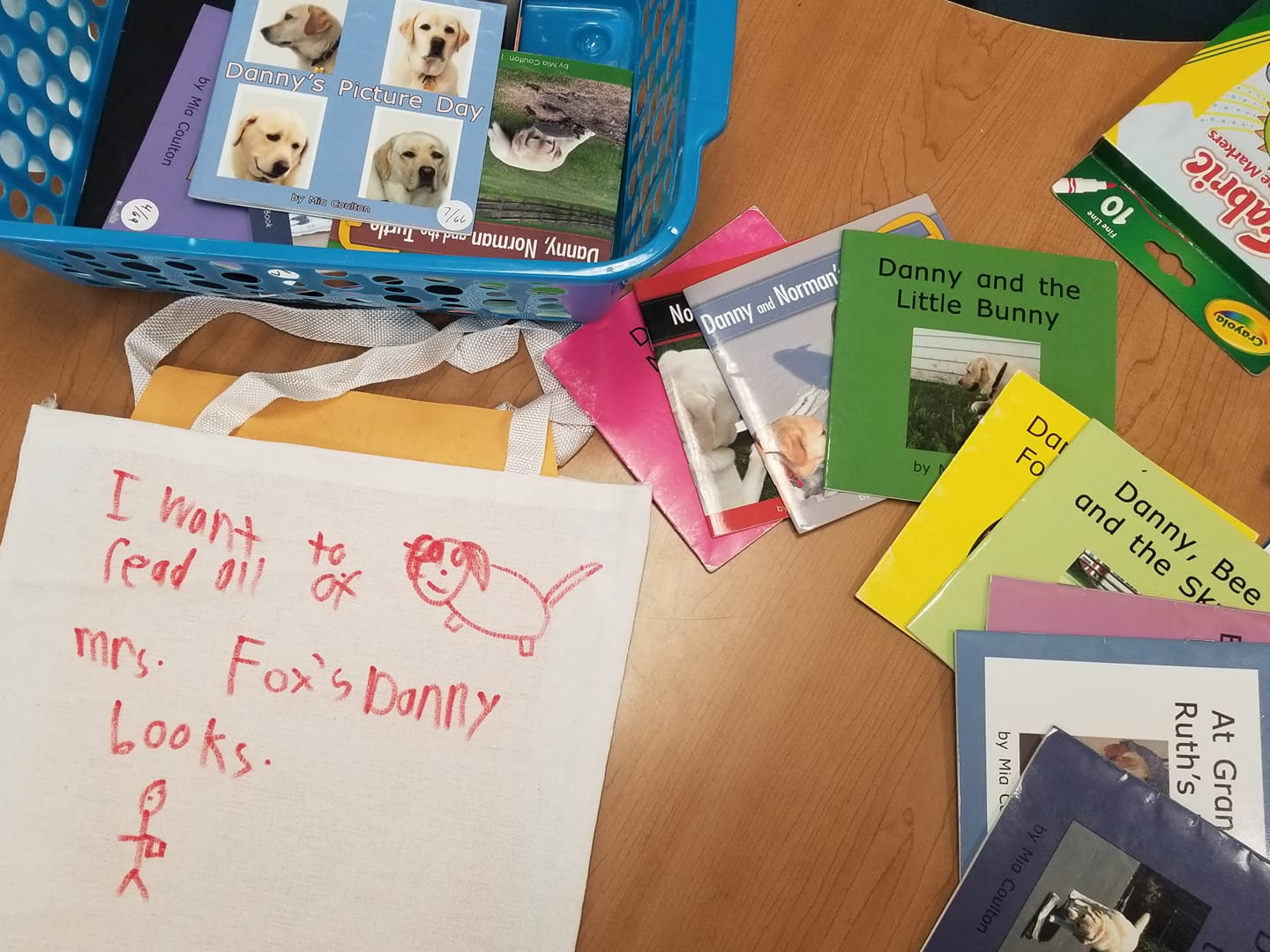 Sara Fox's students love Danny books.