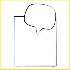 Blank Comic Speech Bubble Card