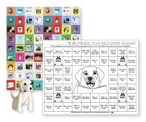 Reading Chart, Puppy, and Stickers