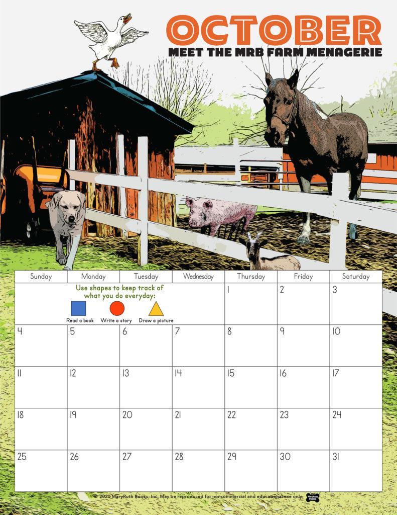 October MRB Farm Calendar